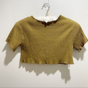 URBAN OUTFITTERS OUT FROM UNDER Ribbed Cropped Top